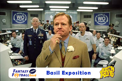 Roger Goodell as Basil Exposition