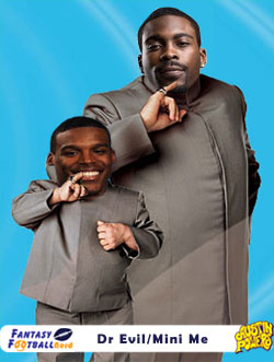 Michael Vick and Cam Newton as Dr Evil and Mini Me